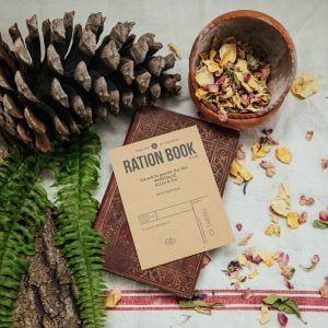 Ration book seed packet wedding favour