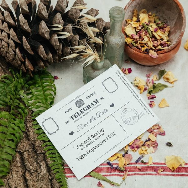 Save the Date seed paper telegram
