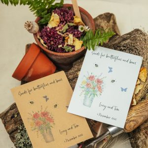 Seeds for butterflies and bees wedding favour