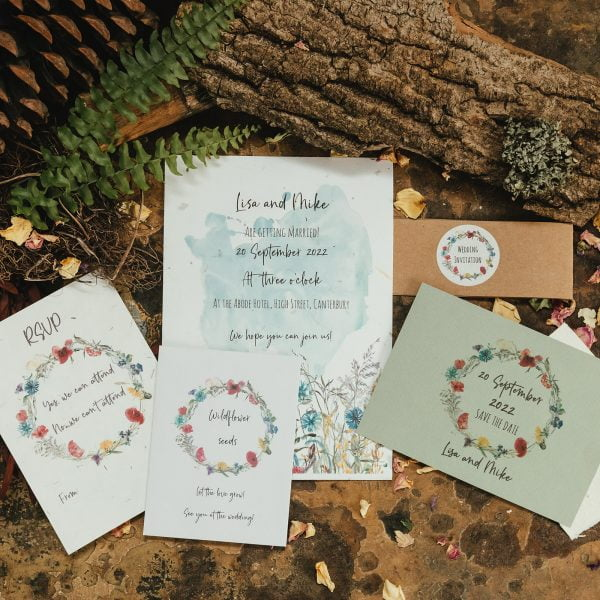 Wildflower invite set with seeds