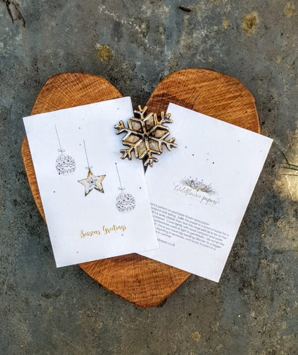 Christmas bauble seed paper card
