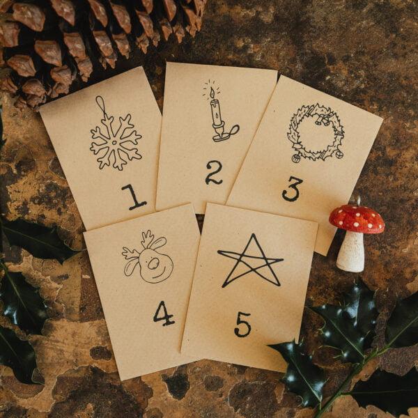 25 packets of seeds alternative Advent calendar